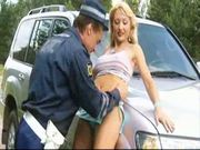 Russian policeman & blonde