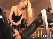 Femdom humiliation bondage couple