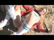 Drifter Ally Ann gets her trailer park ass disgraced in the desert