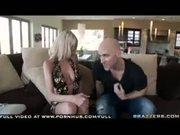 Bigtit Blonde Milf Emma Starr fucks sucks party host under mistletoe