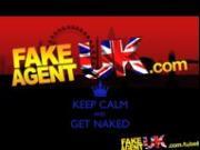 FakeAgentUK British Blonde MILF devours cock for cash