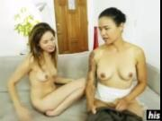 Two hotties get naked and fuck hard
