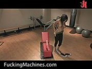 Lavish Styles works out on fucking machines