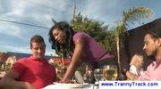 Black transsexual waitress seduces men