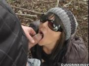 Dogging wife gangbanged at the highway
