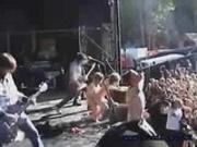 Lucia fucks on stage