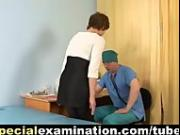 Medical test for shy young babe