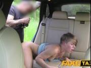 FakeTaxi Passenger rides her biggest thick cock