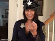 SAFFRON LEBLANC police cop tease