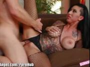 BurningAngel Fishnetted Emo Babe goes Hard