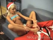 Niki Blond is fucked by Santa Claus