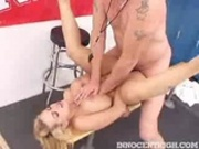 busty blonde Starla Sterling gets screwed hard in the locker room