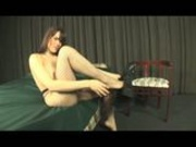 Brunette super sexy transex humiliating a slave