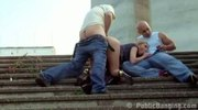 Daring Public Sex Street Threesome. AWESOME