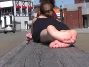 Soft soles and tasty toes outdoors