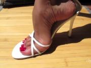 American amateur showing off sexy shoe collection