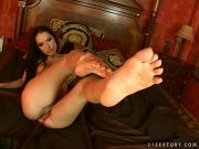 Intense female masturbation with bare footed Esmeralda