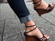 Sexy shoes galore! Wooden wedges, black pumps, etc