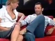 Upskirt Sexy Busty Boobs On Tv