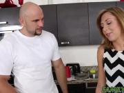 Kelly Green wants a taste of her stepbros masive cock