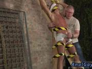 Gay male hardcore porn He's roped up to the cross in just his