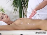 Pretty Client Olivia Gets Fingered By Masseur