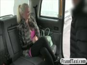 Busty blonde slut exchange her asshole with free taxi fare
