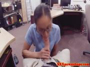 Pawnshop spex amateur sucking for extra cash