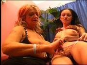 Granny seduces beautiful brunette teen