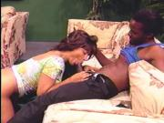 Ebony fuck with black girl getting railed missionary style