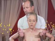 Masseur licked oiled wet pussy