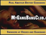 Genuine amateur gang bang