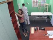 Petite busty patient bangs in hospital