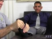 Mens bare feet cock gay first time Jake Torres Gets Foot Worshiped &