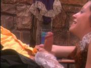 Kinky Amish redhead takes big cock