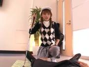 Cute Japanese chick Rio gets double teamed and cum blasted