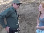 Border hopping redhead pounded by border patrol agent