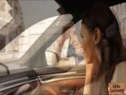Big tits babe Kitana Lure repays the stranger by fucking him in the car