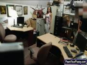 Huge hooters latina stuffed by pawn guy