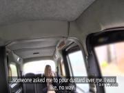 Huge tits blonde banged in fake cab