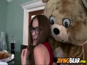 The dancing bear dances and gets blowjob