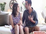 Cute teen virgin lets her boyfriend fuck her ass