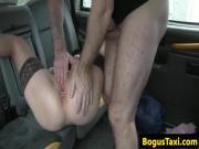 Brit beauty analfucked and fingered by cabbie