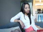 Teen cutiepie Jasmine Summers rides a big hard dick