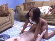 Cute black girl with nice ass and tits gets fucked and 69'd