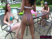 Sexy bikini besties carwash and fucking