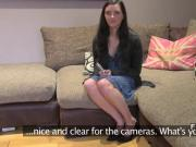 British fake agent fingers ass to babe