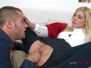 College Slut Carmen Monet Has Hot Foreplay With BF