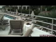 Sexy Suz Masturbating in Public at the South Seas Hotel in South Beach