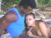 Beautiful young latin teen gets a nice hard doggy style fuck in her shaved pussy